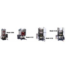 Presses equipped with heated platens, capacity 12, 25 and 30 tons