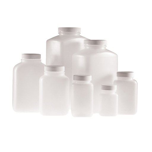 Natural HDPE wide mouth oblong bottle PLC-09005