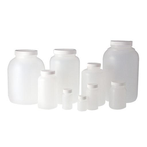 Natural HDPE wide mouth oblong bottle PLC