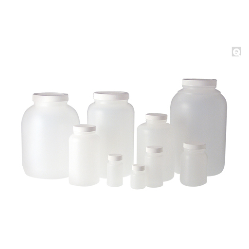 Natural HDPE wide mouth round bottles PLC-03636
