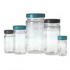 Clear graduated medium round bottles, bottle only