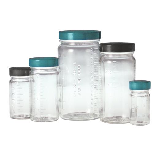 Clear Graduated Medium Round Bottles