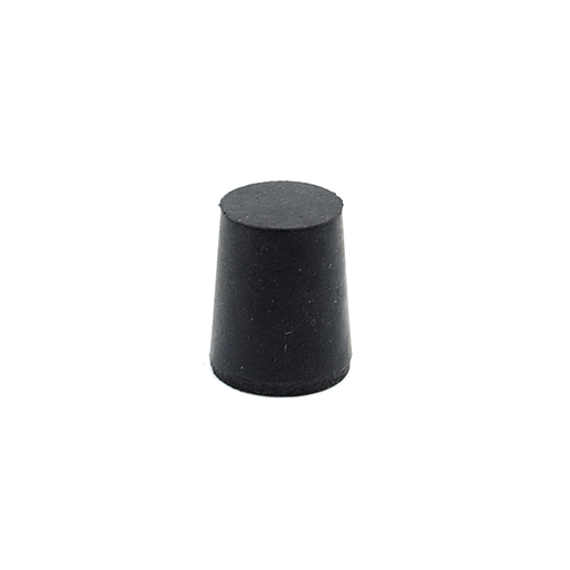 Solid Black Rubber Stopper
