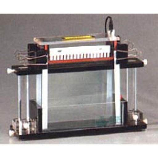 Vertical-double system for gel electrophoresis