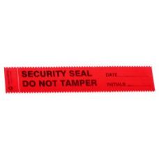 Sceau de sécurité rouge