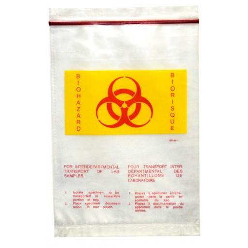 Resealable Biohazard Specimen Bags