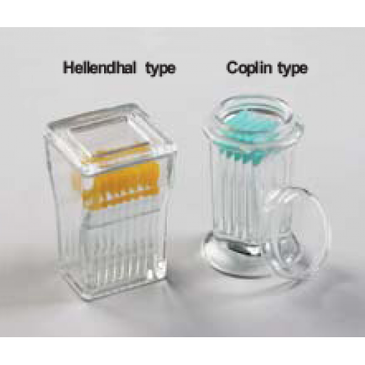 Slide Staining Glass Jar