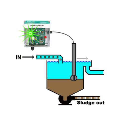 Single Point Sludge Blanket Level Detector