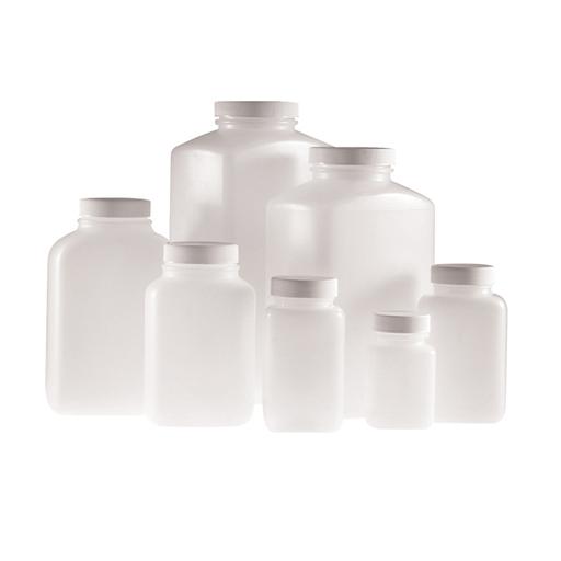 Natural HDPE wide mouth oblong bottle PLC-09005