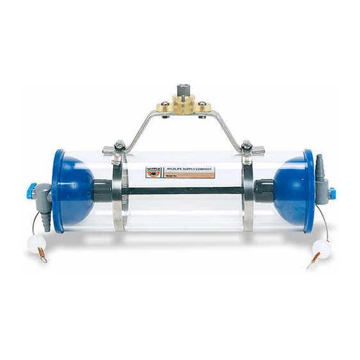 Bouteille d'échantillonage d'eau horizontale