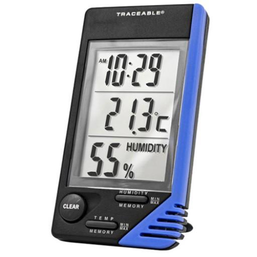 Thermo-hygromètre avec horloge
