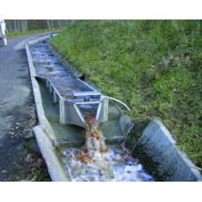Canal de mesure du débit de l'eau