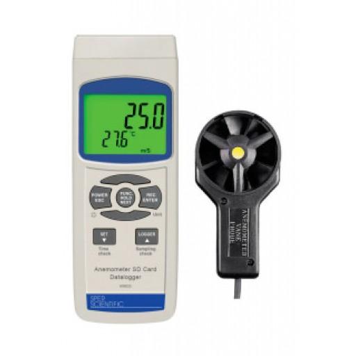 Anémomètre enregistreur sur carte SD