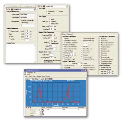 Analyseur de texture d'aliments - logiciel