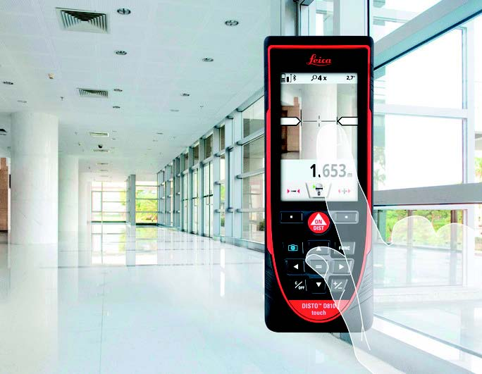 Laser distancemeter with bluetooth from Leica  - Touch screen