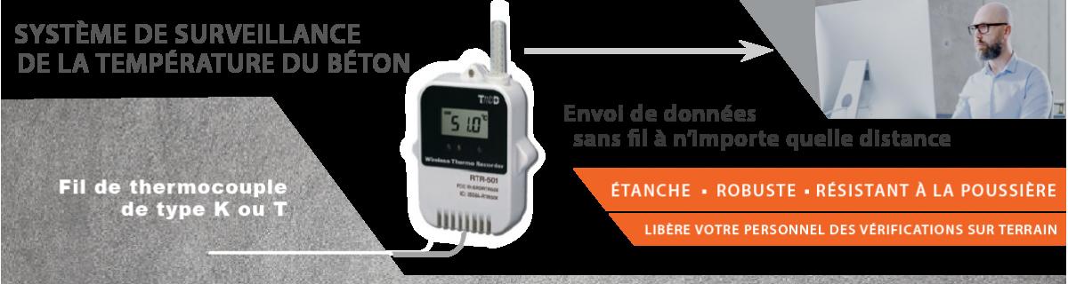 Système de surveillance de la température du béton