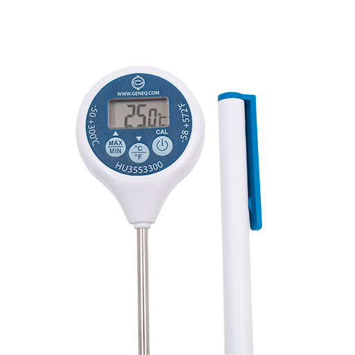Calibrable Thermometer, waterproof with min / max
