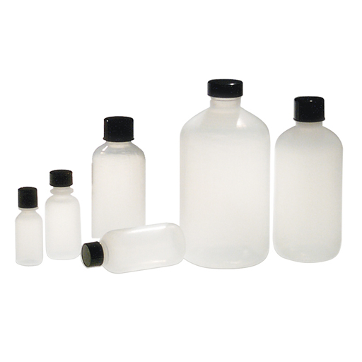 Natural LDPE Boston round bottles