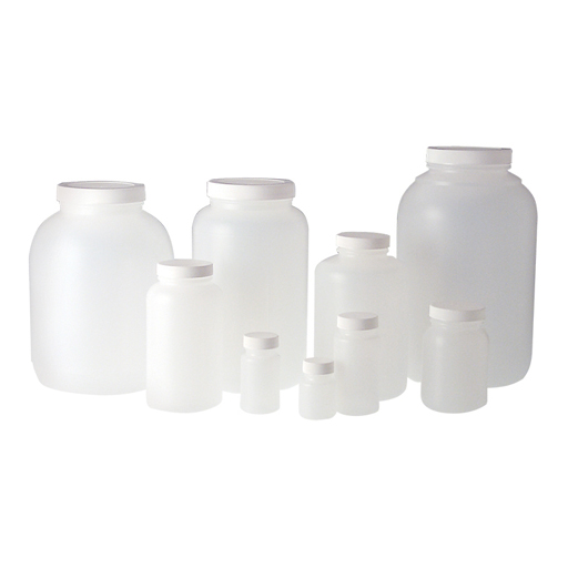 Natural HDPE wide mouth round bottles PLC-03579