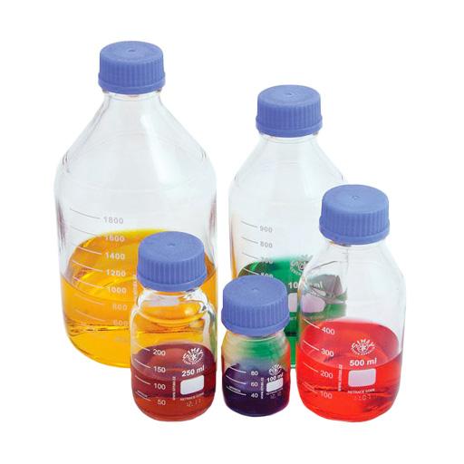 Bouteilles de storage en verre borosilicaté