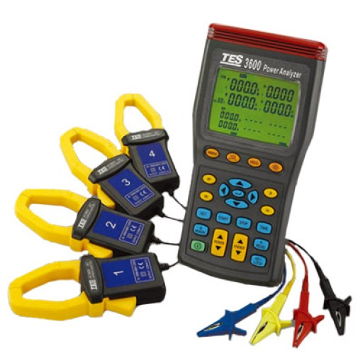 Tes 3600 3 phase power analyzer tester true rms with software-in.